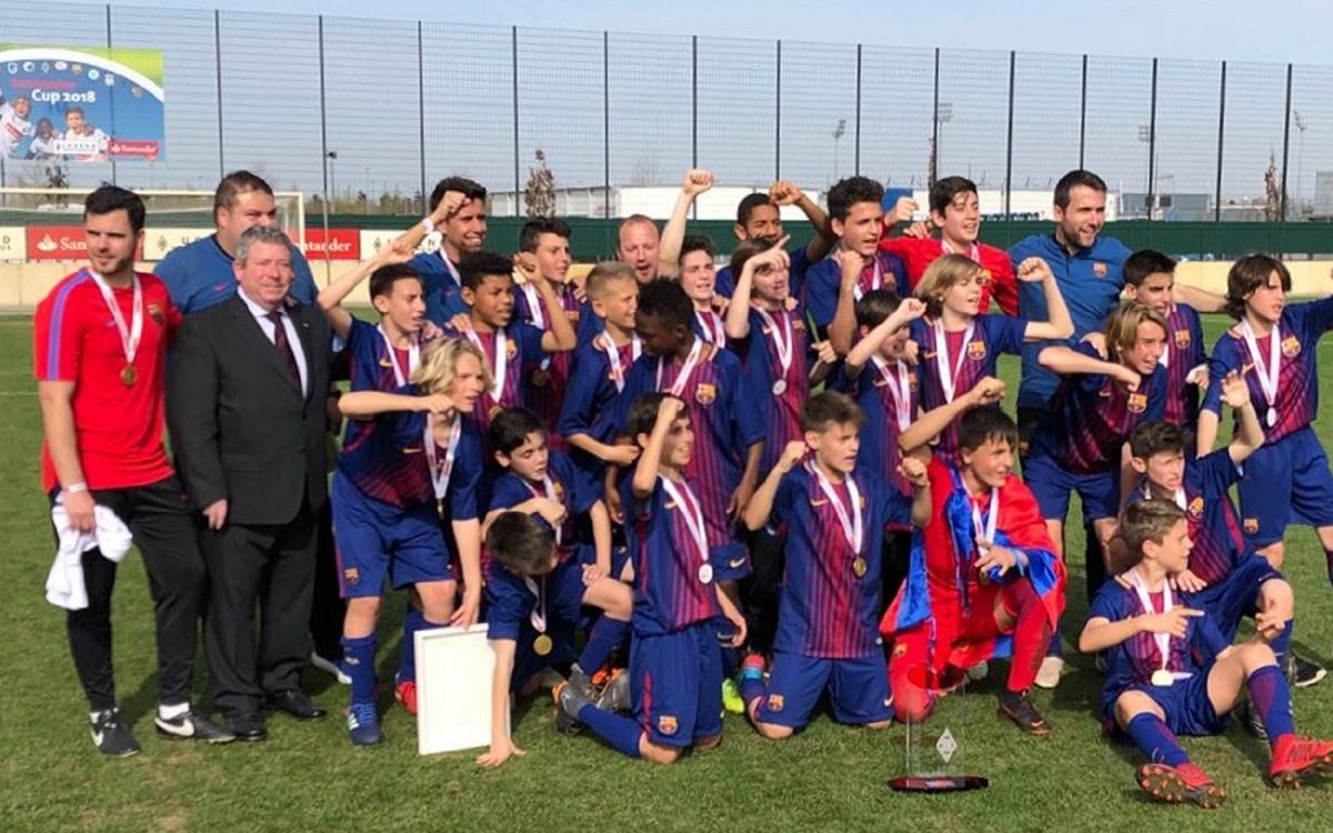 El Infantil B gana la Santander Cup