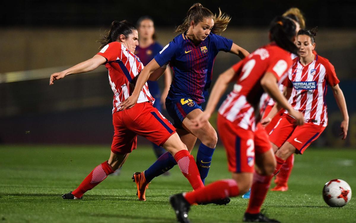 Barça Femení - Atlètic de Madrid: Tot queda igual (1-1)