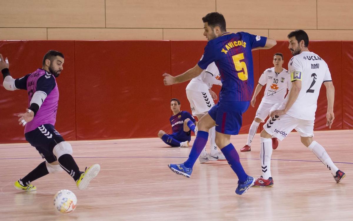 Barça Lassa – FS Valdepeñas: Repartiment de punts en un duel trepidant (5-5)
