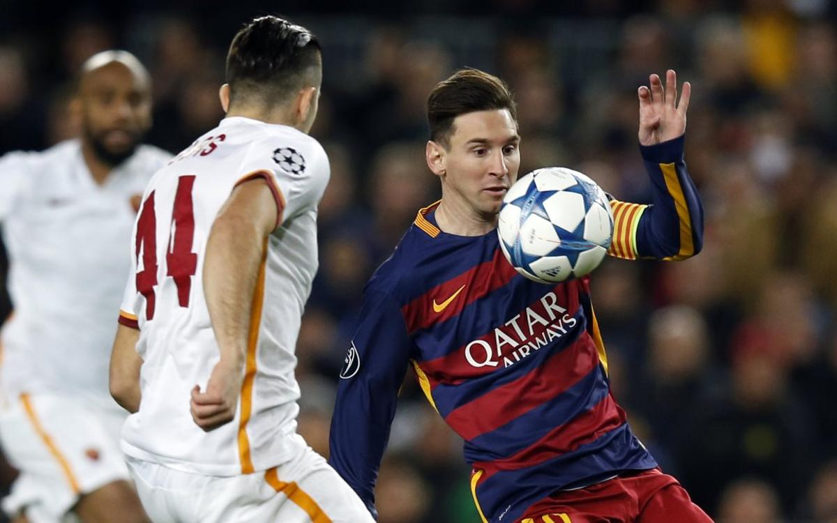 The three most recent precedents between Barça and Roma