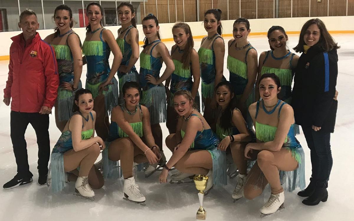 El Barça es penja la medalla d'argent del Trofeu d'Occitània de ballet
