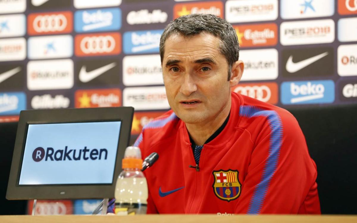 Ernesto Valverde: 'We need five wins to be champions'