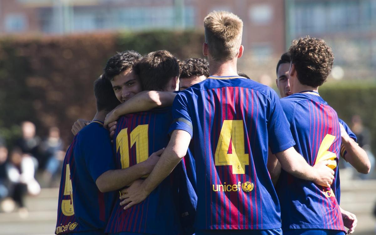 Juvenil A - Lleida Esportiu: Un paso del título de Liga (3-0)