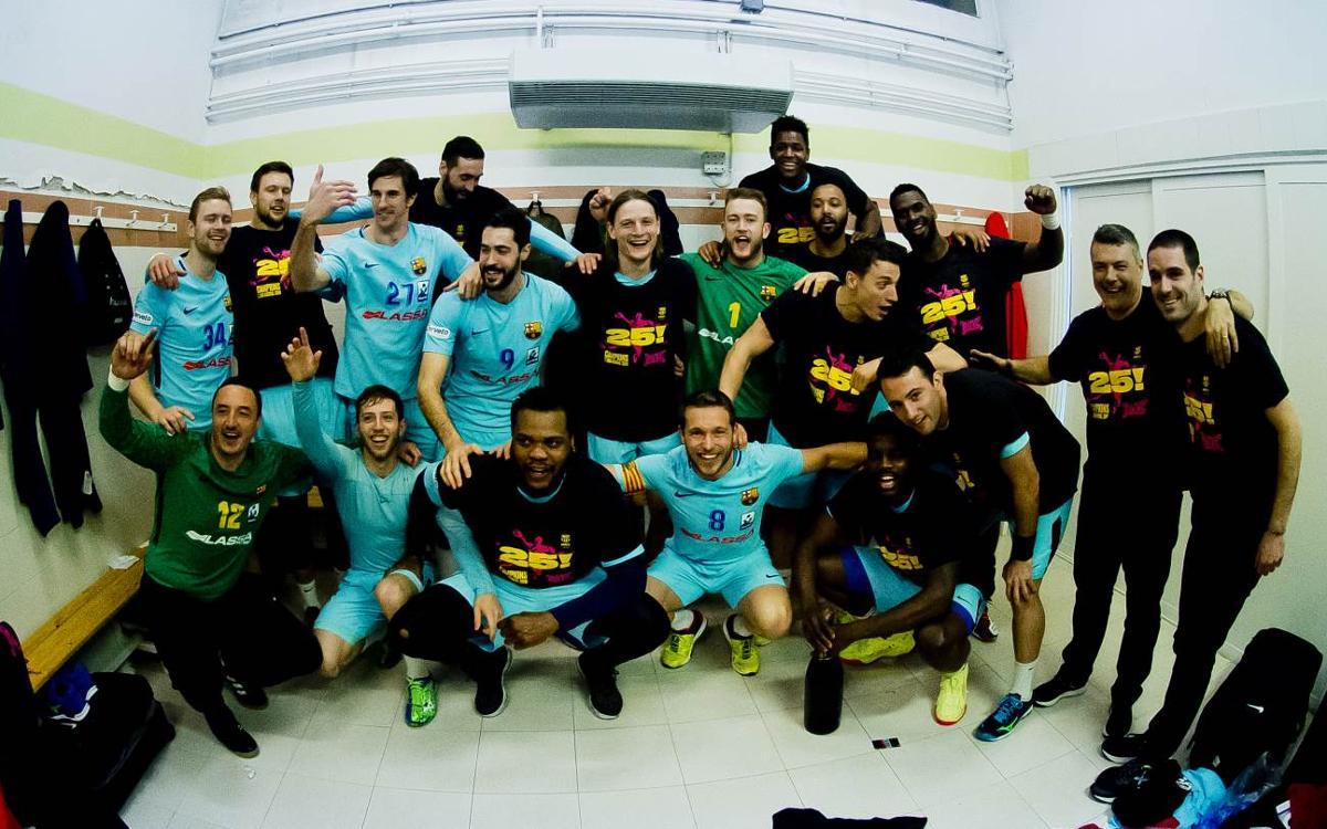 Liberbank Ciudad Encantada 27-30 Barça Lassa: League champions! (27-30)