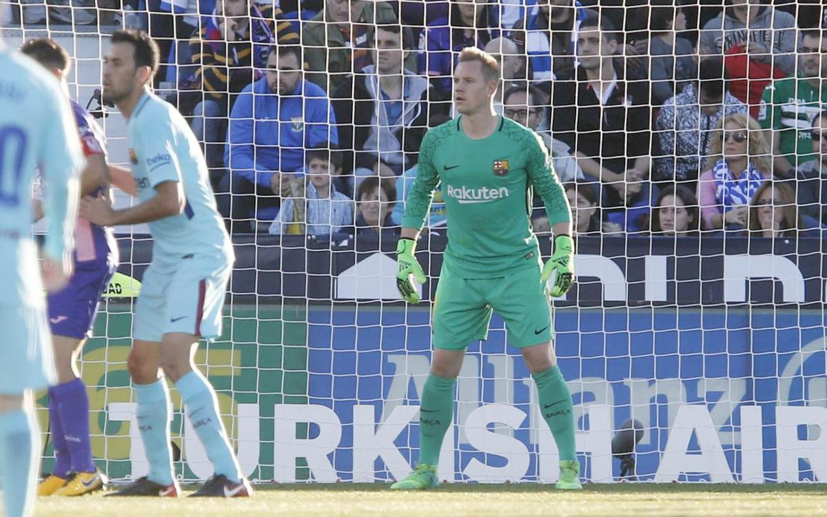 Ter Stegen brilliant against Leganés earlier in the season