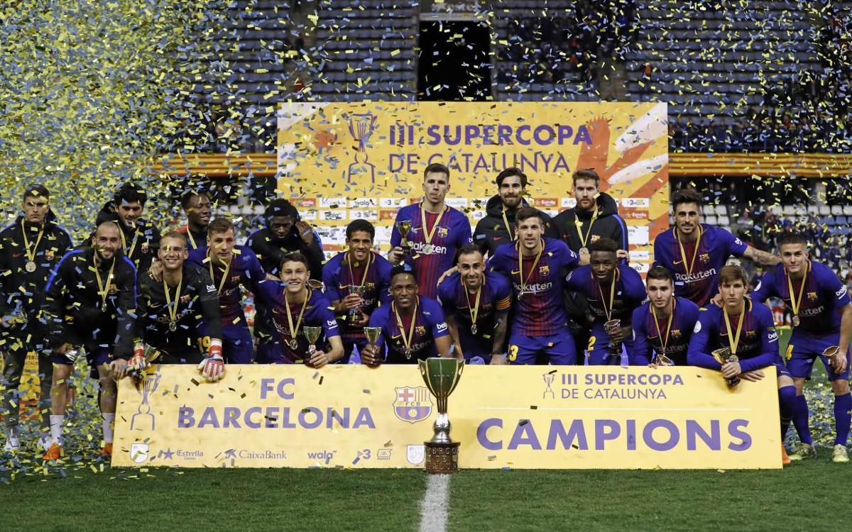 FC Barcelona – RCD Espanyol: Campions de la Supercopa de Catalunya! (4-2)