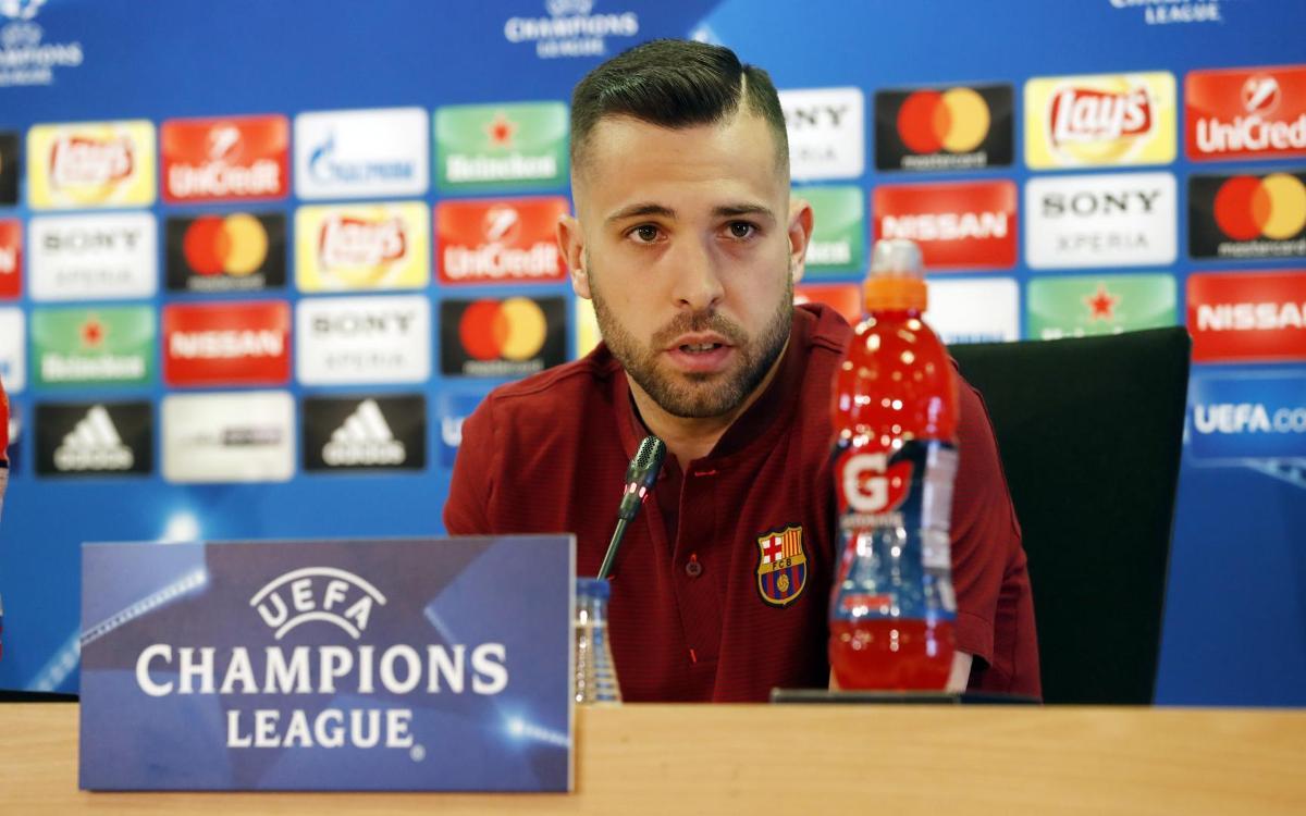 """Jordi Alba: """"És important no encaixar cap gol"""""""
