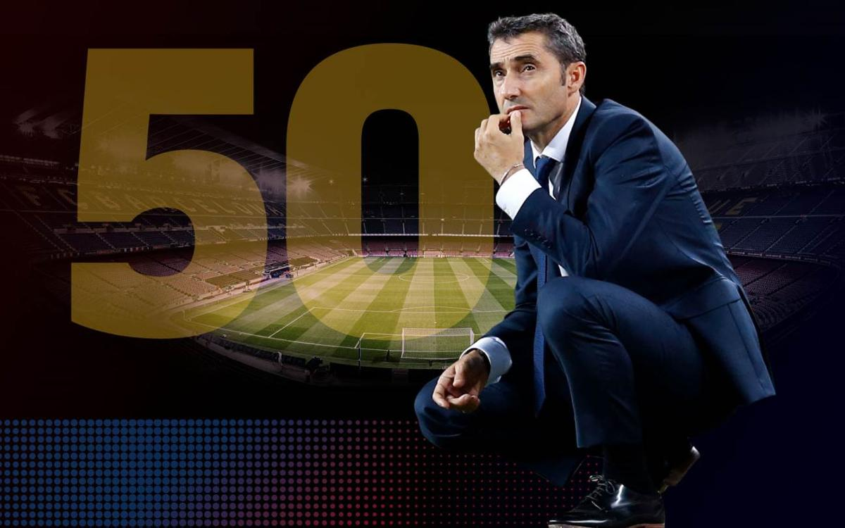 Valverde's numbers through 50 games coached
