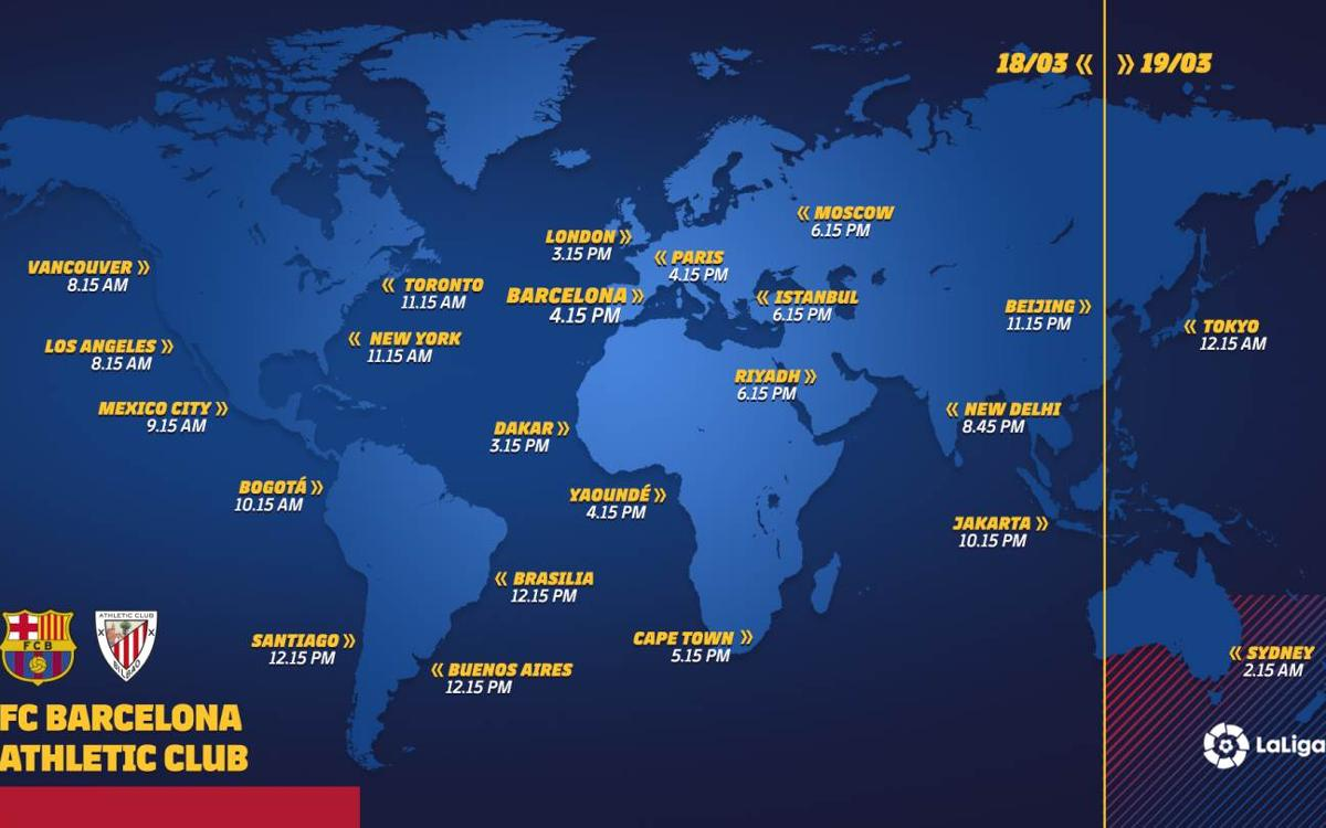 When and where to watch FC Barcelona - Athletic Club