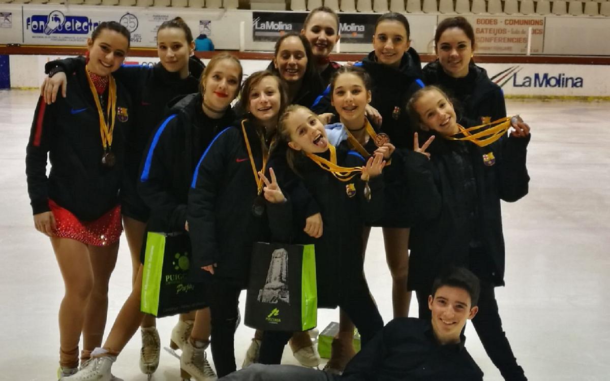El Barça domina el Campionat de Catalunya de patinatge artístic