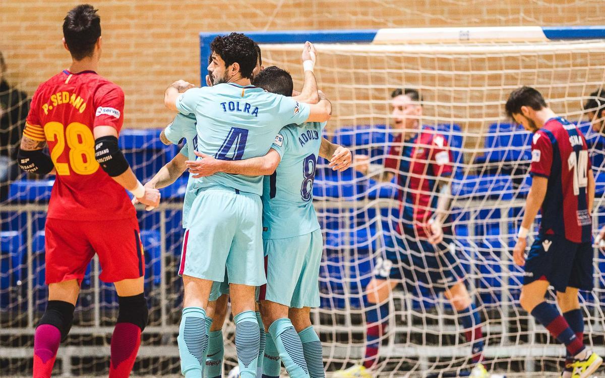 Levante UD Futbol Sala – FC Barcelona Lassa: Attacking exhibition in El Cabanyal (3-9)