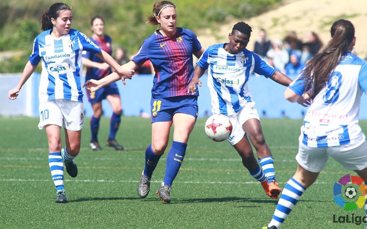 Sporting Huelva - Barça Femení: La Lliga continua igual (1-1)