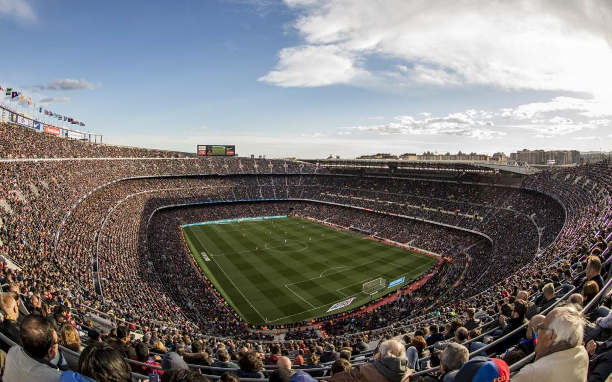 Supporters ensure a full Camp Nou for the decisive part of the season