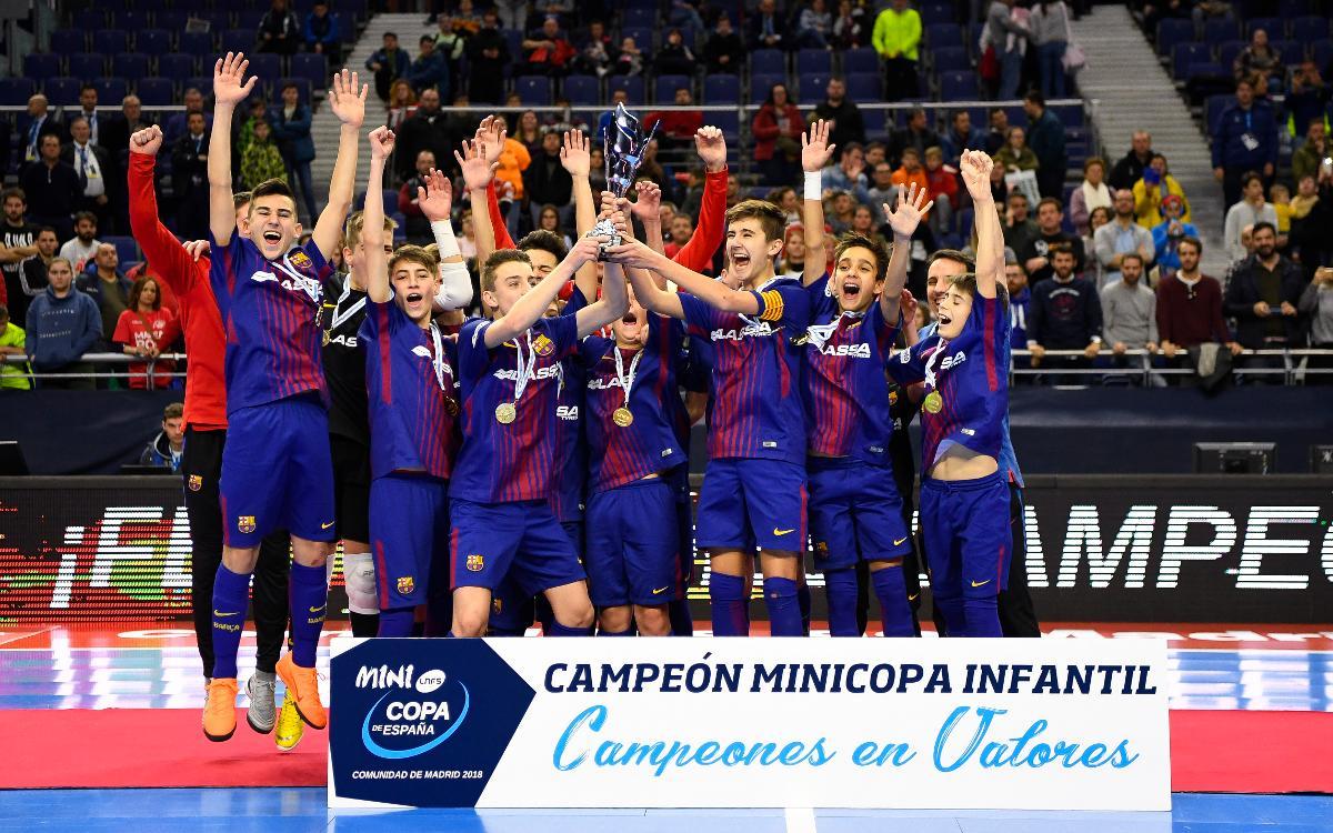 Barça Lassa - ElPozo Murcia (4-2): Sexta Minicopa Blaugrana de fútbol sala