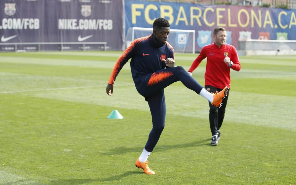 Recovery session at Ciutat Esportiva