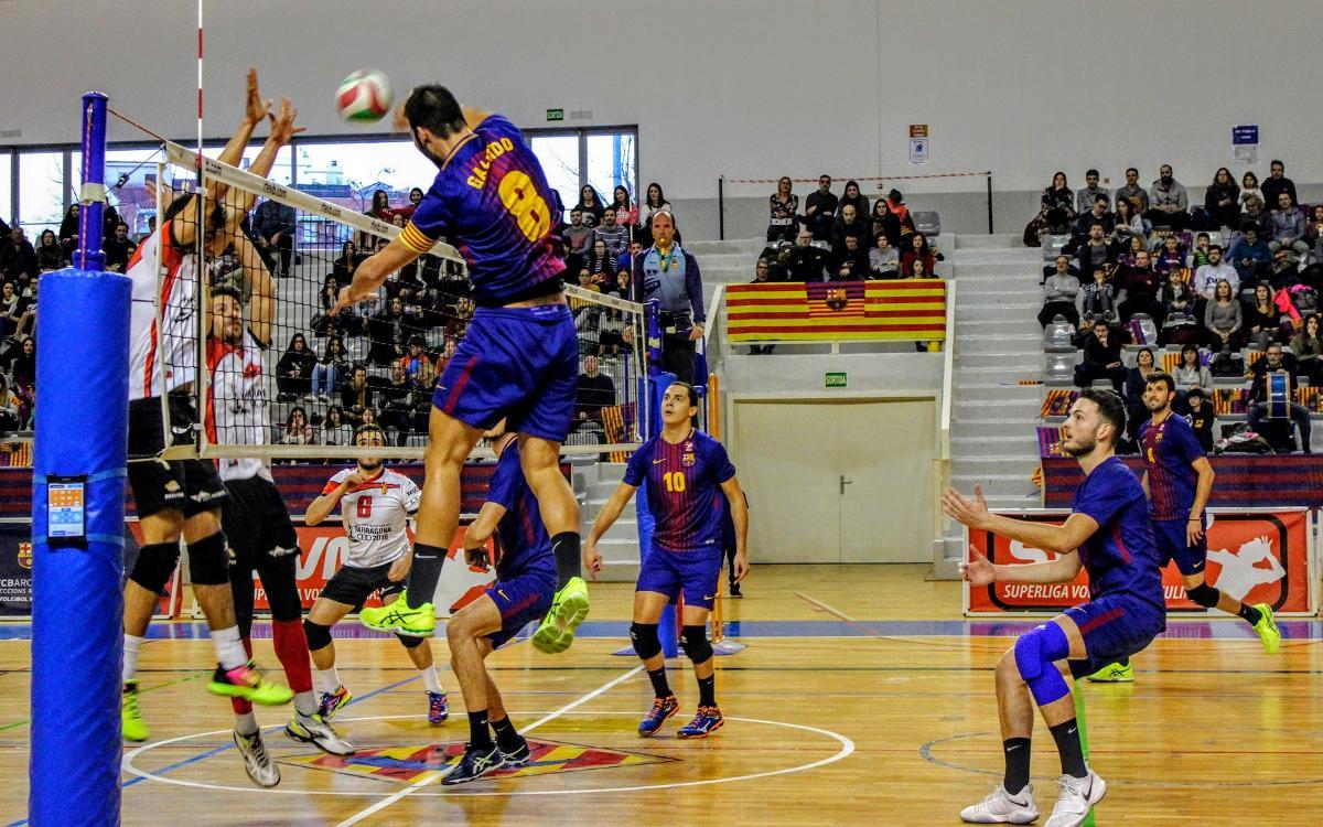 Barça TV emetrà en directe el Barça-Unicaja de voleibol (dissabte, 18.00h)