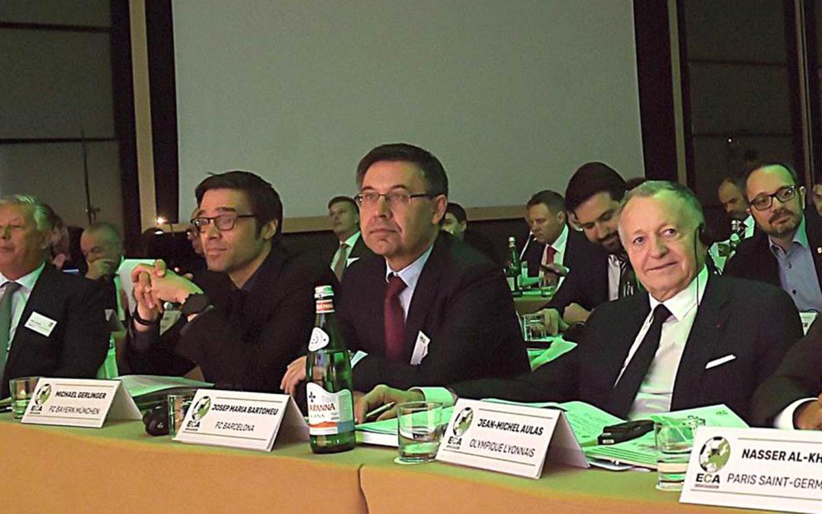 Bartomeu, present a l'executiva de l'ECA a Madrid