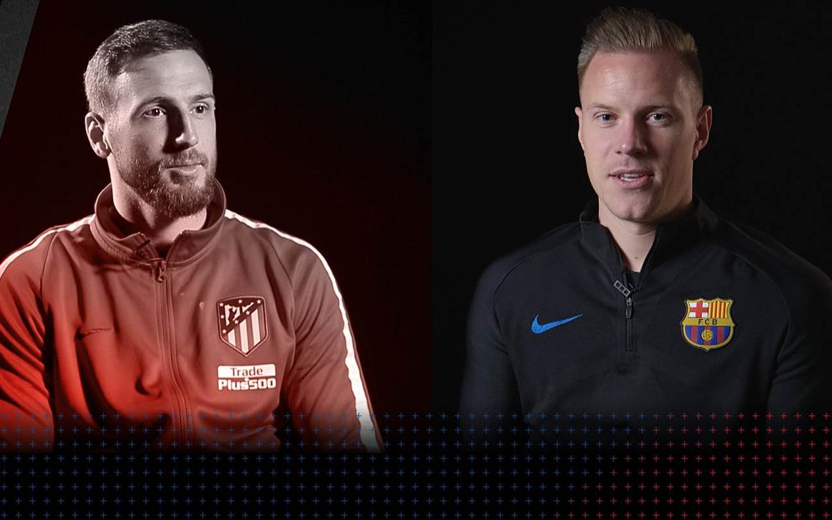 Jan Oblak and Marc-André Ter Stegen come face to face