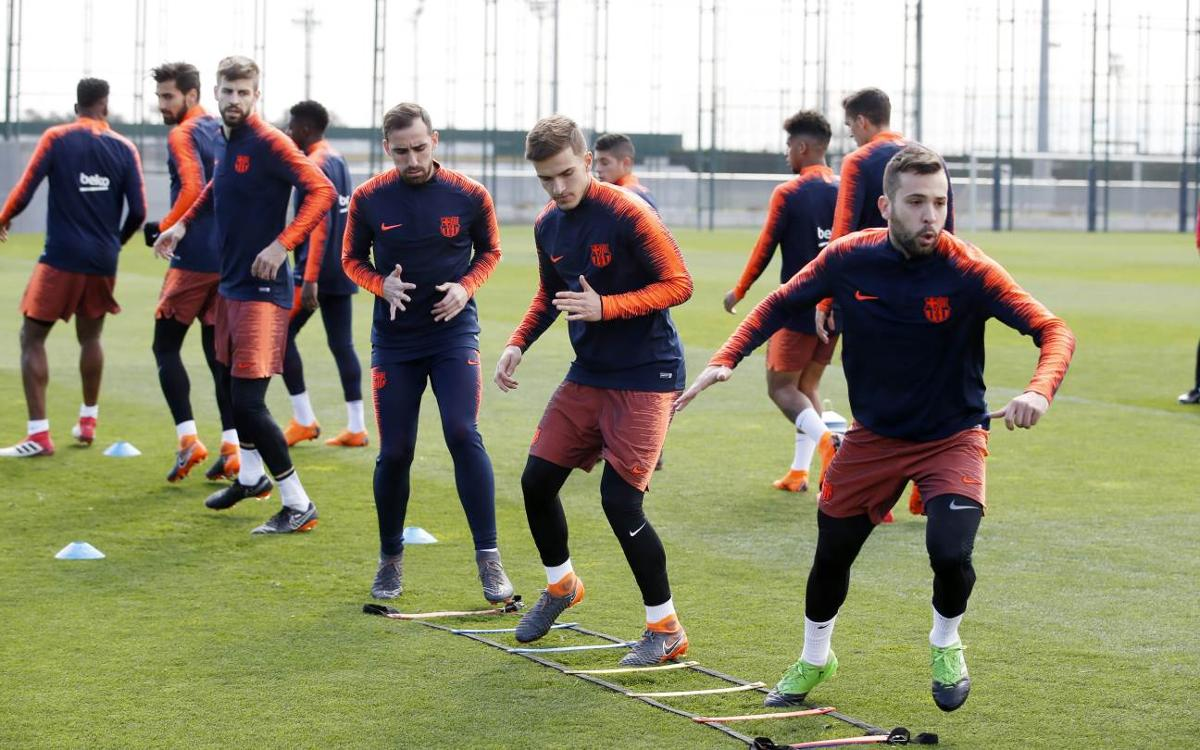Back at training, next up Atlético