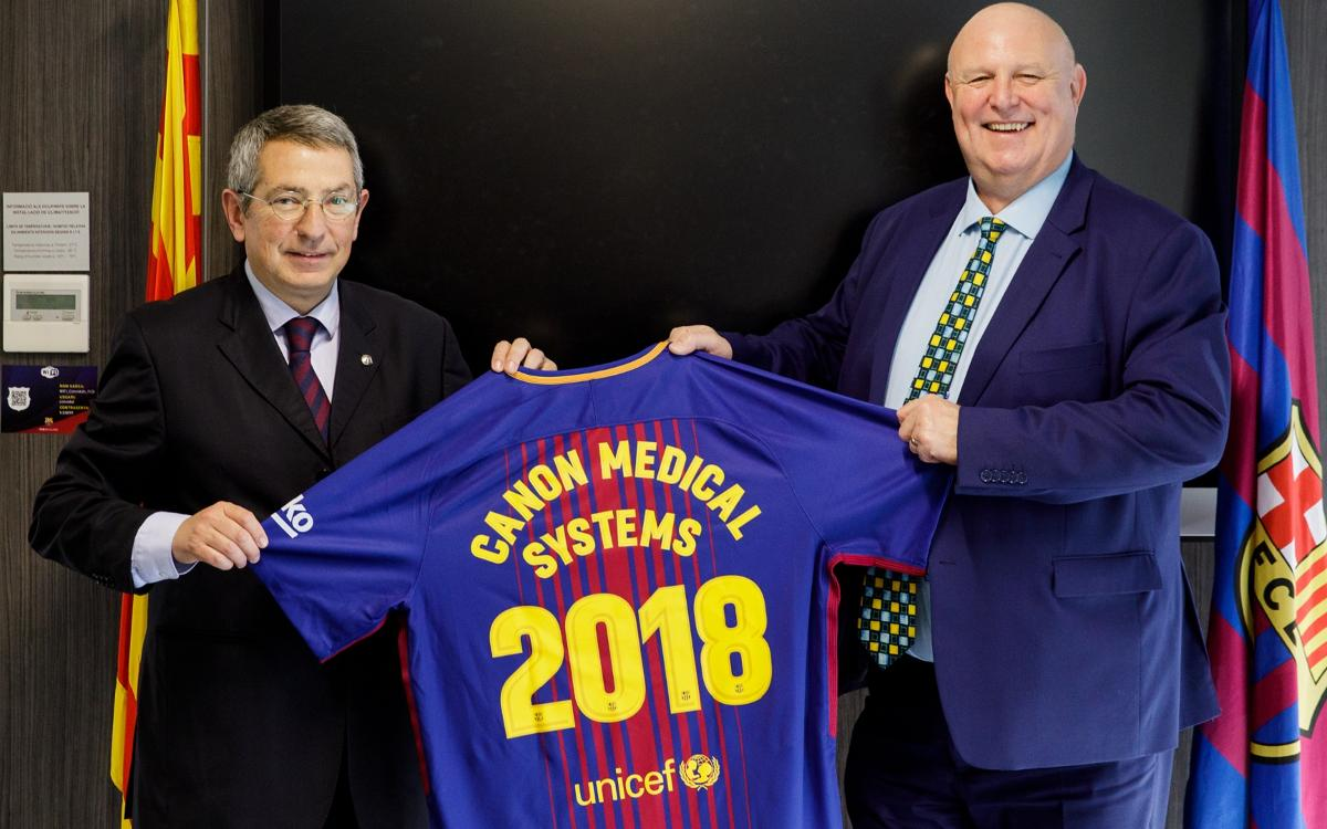 Canon Medical Systems visita los Servicios Médicos del FC Barcelona