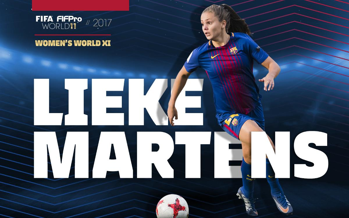 Lieke Martens the most voted in FIFPro 2017 World XI