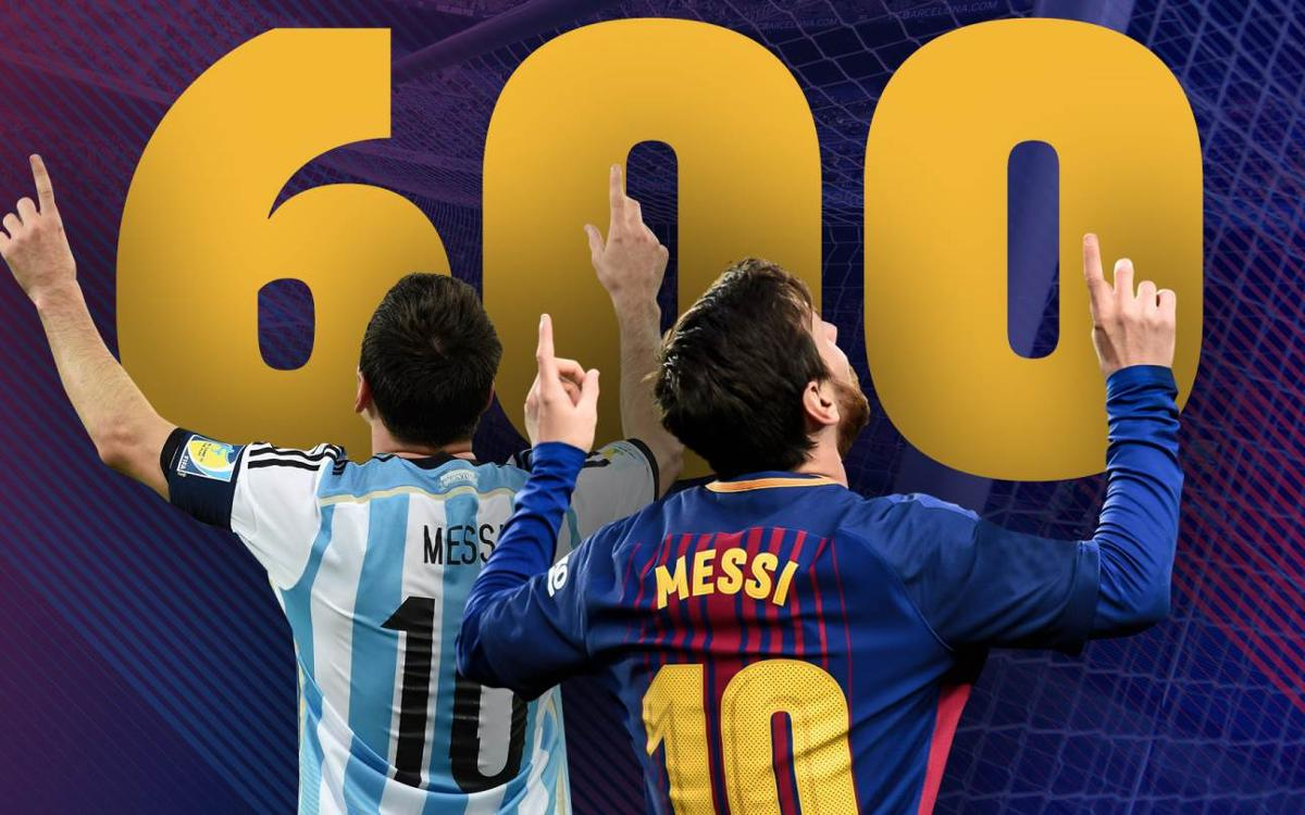 Lionel Messi reaches 600 career goals