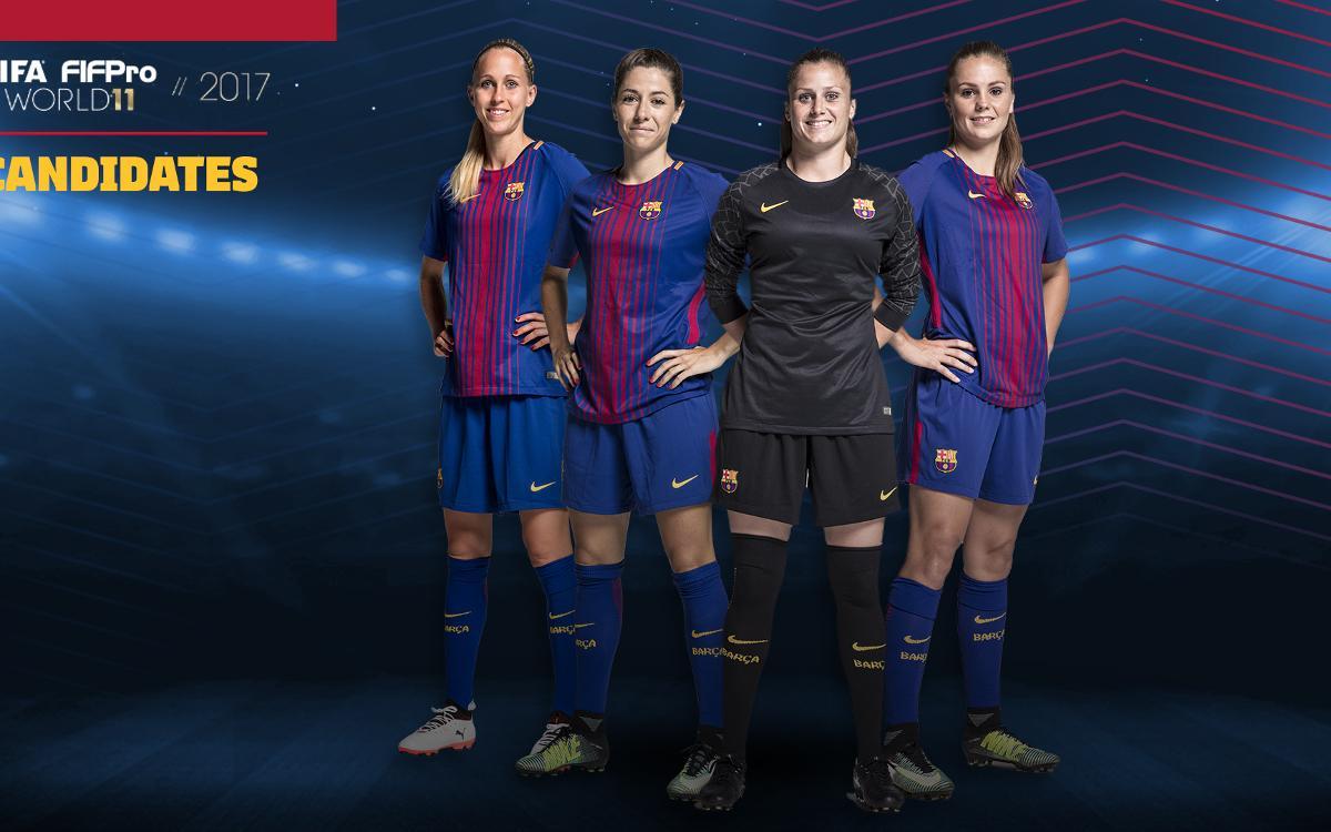 Cuatro culés nominadas al once FIFPro 2017