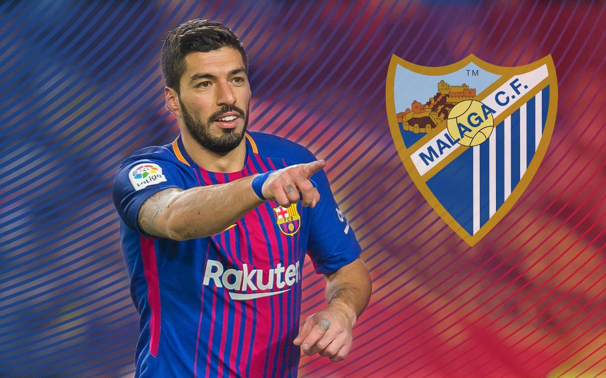 Luis Suárez marca contra el Màlaga, l'únic equip de Primera que se li resistia