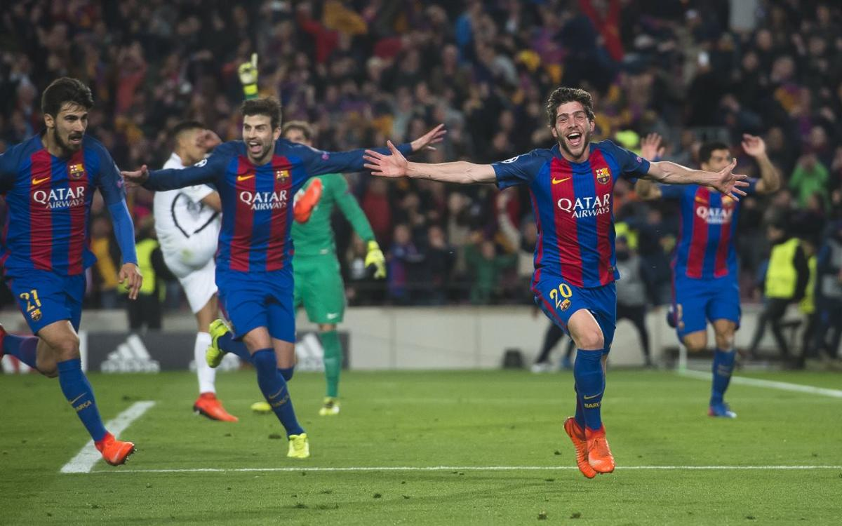 Sergi Roberto remembers the 6-1 win against PSG: 'I didn't sleep that night'