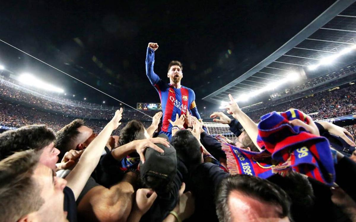 Lionel Messi to Sergi Roberto: 'You helped us experience an incredible moment'