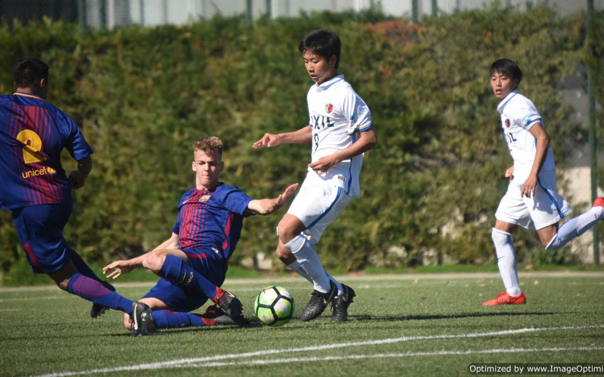 FC Barcelona U19B and Kashima Antlers play friendly game