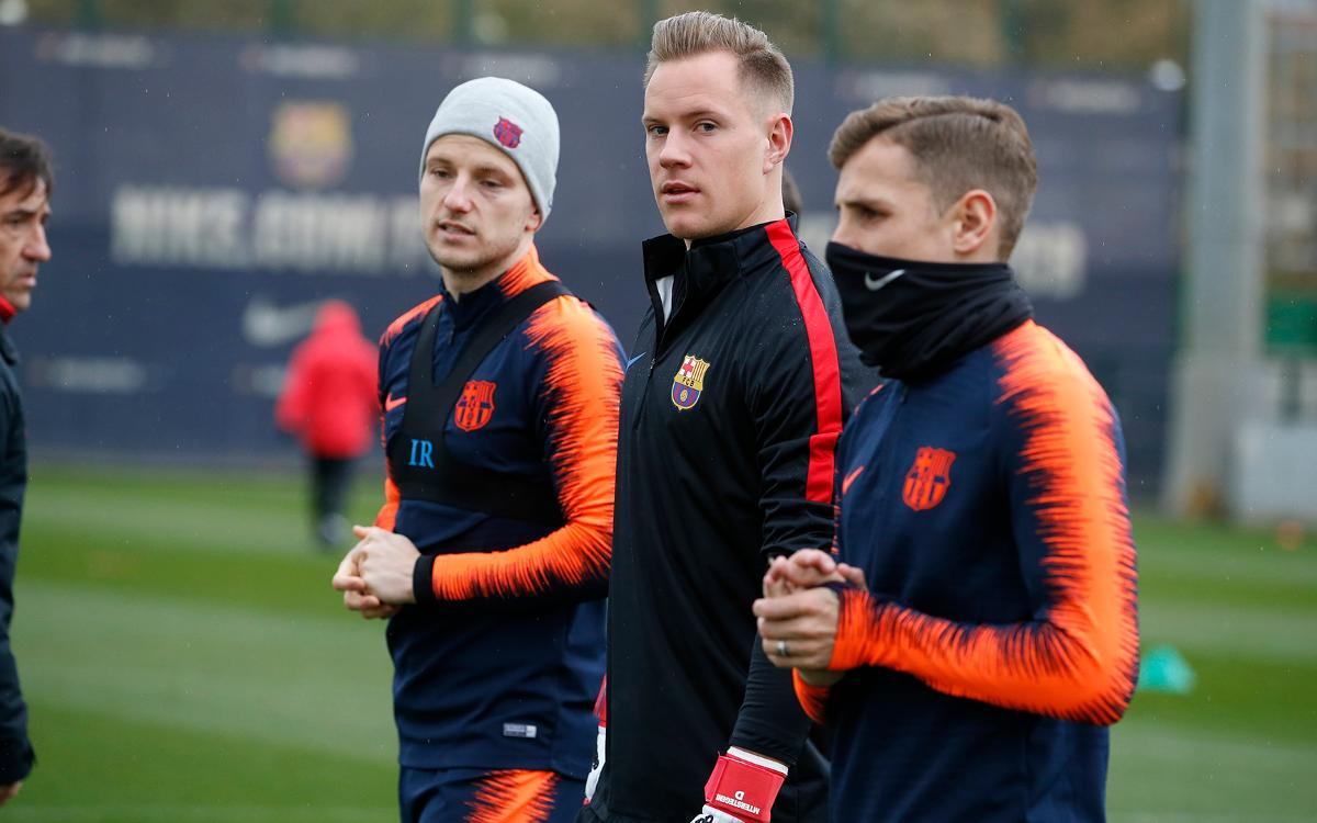 Recovery session following scoreless draw at Camp Nou