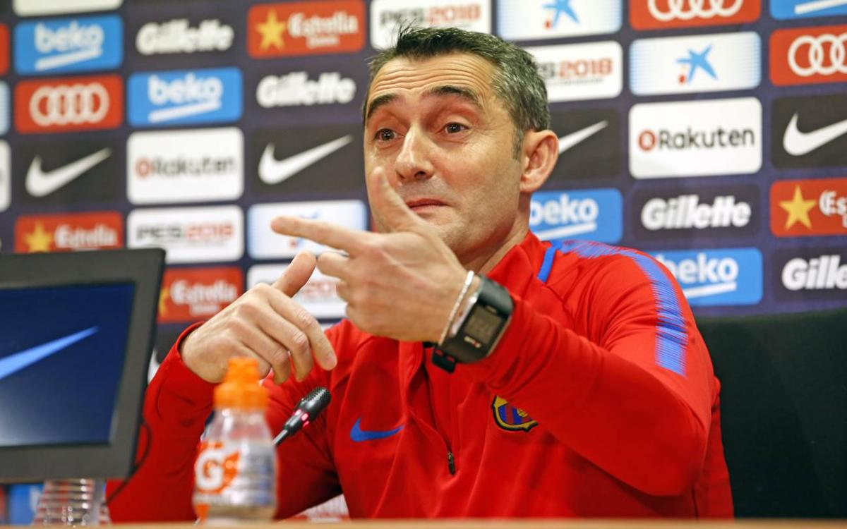 Ernesto Valverde feels Barça will need to score in Mestalla to get through