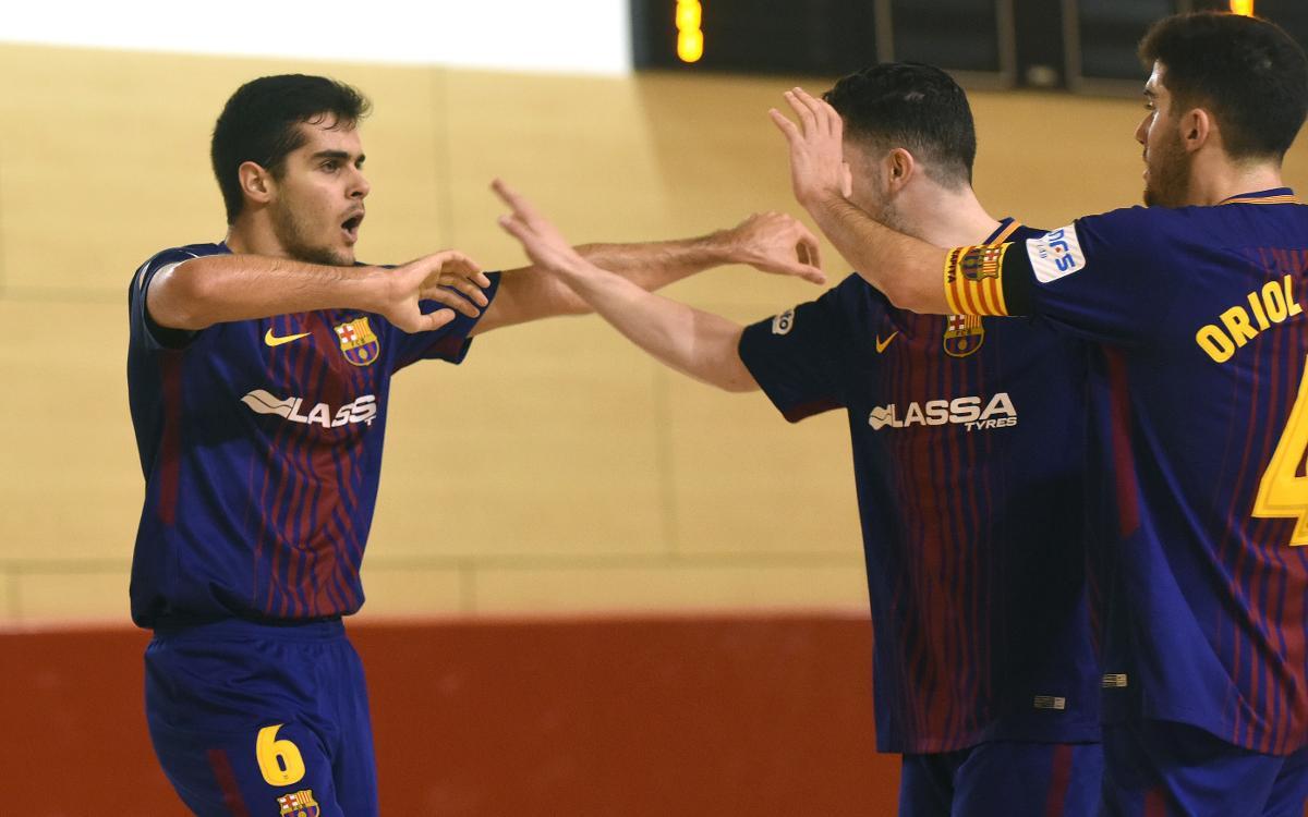 Barça Lassa B - Pescados Rubén Burela (5-4): Gran triunfo de equipo