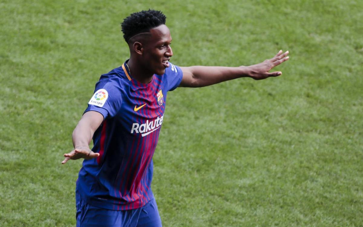 Un mes de la presentación de Yerry Mina al Barça