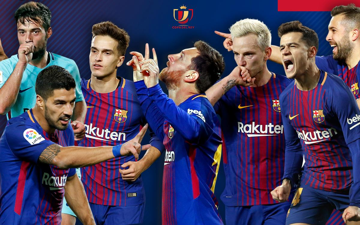 Todos los goles del FC Barcelona en la Copa del Rey