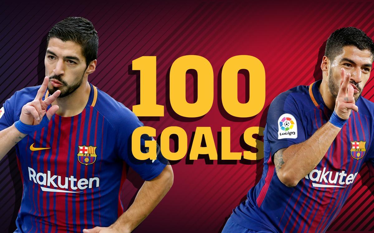 Els 100 gols a la Lliga de Luis Suárez