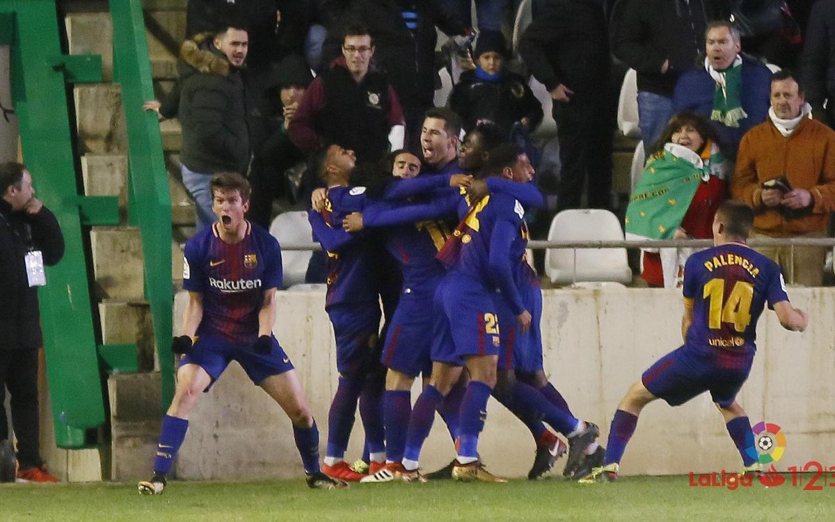 Córdoba CF - FC Barcelona B: Remontada sobre la bocina (1-2)