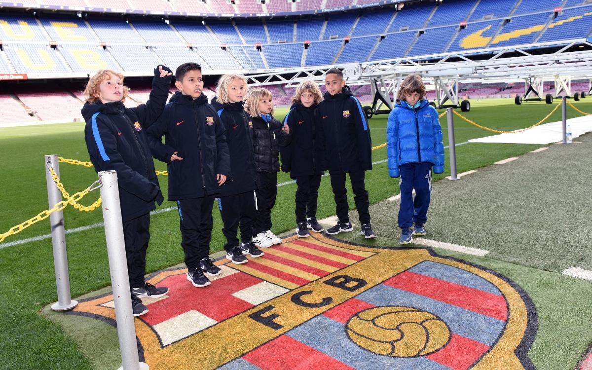 Los Benjamines A y C visitan el Museo y conocen la Agrupación Barça Jugadores