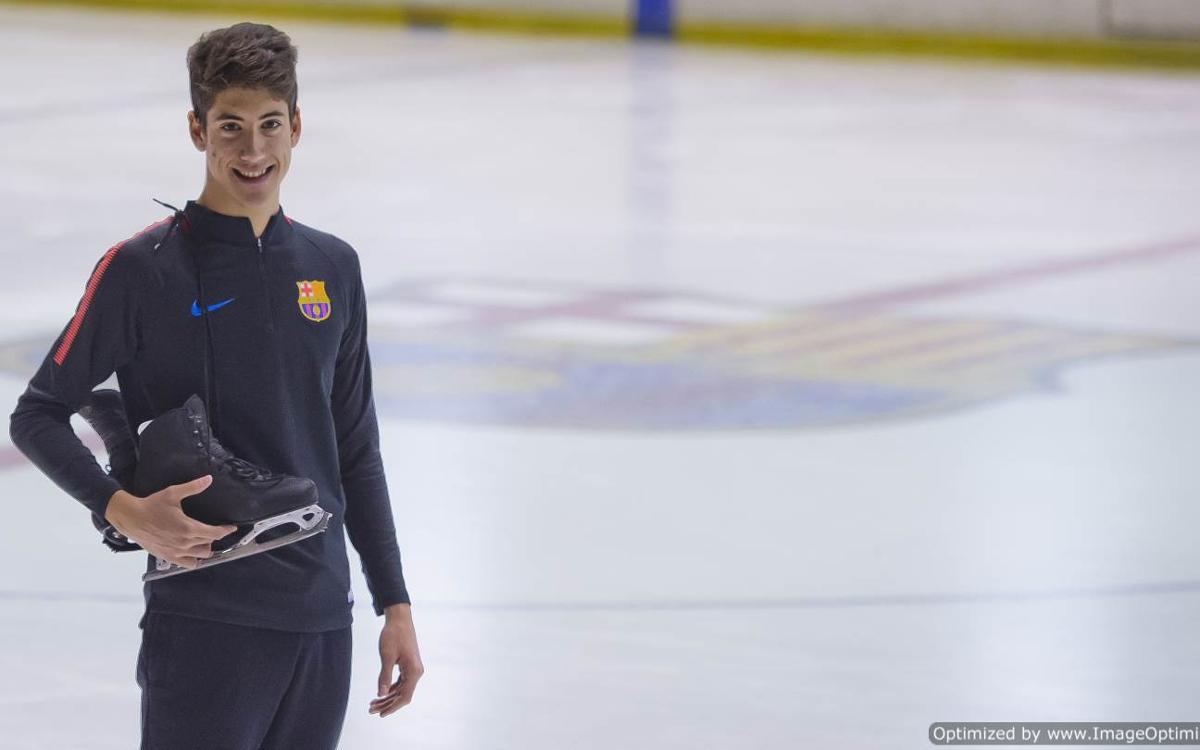 Aleix Gabara, un blaugrana al Mundial Junior de Patinatge