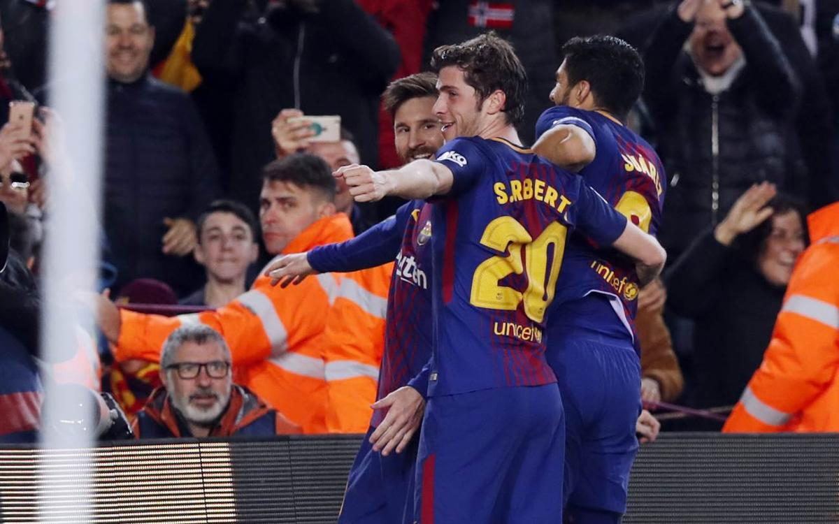 The most influential Sergi Roberto