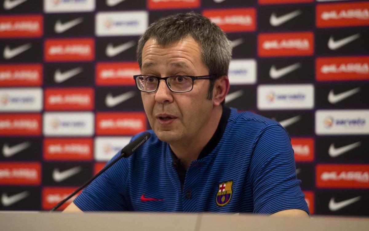 """Edu Castro: """"L'equip arriba a la Copa creixent en molts aspectes"""""""