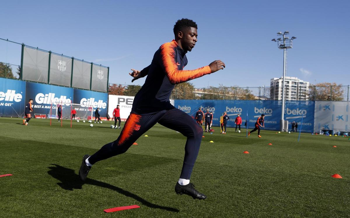 Dembélé, Alcácer i Vermaelen, novetat a l'entrenament del FC Barcelona