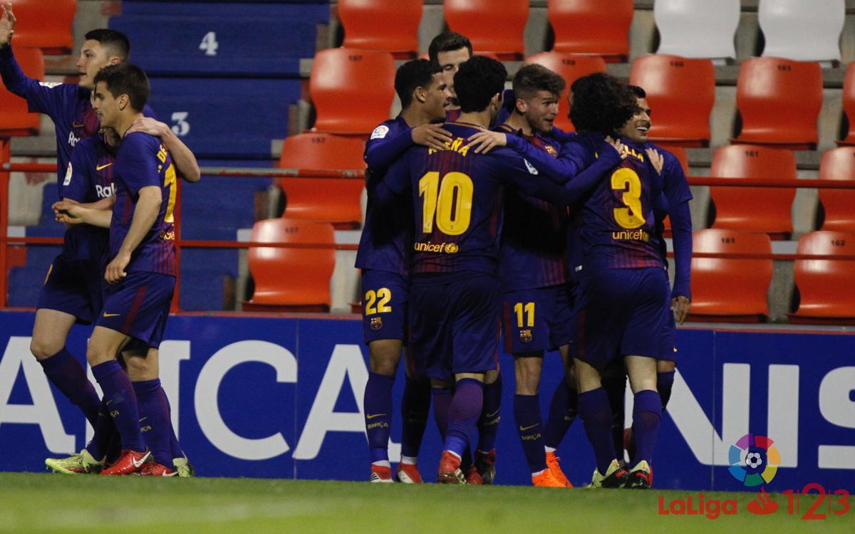 CD Lugo – FC Barcelona B: Remuntada amb doblet de Nahuel (1-2)