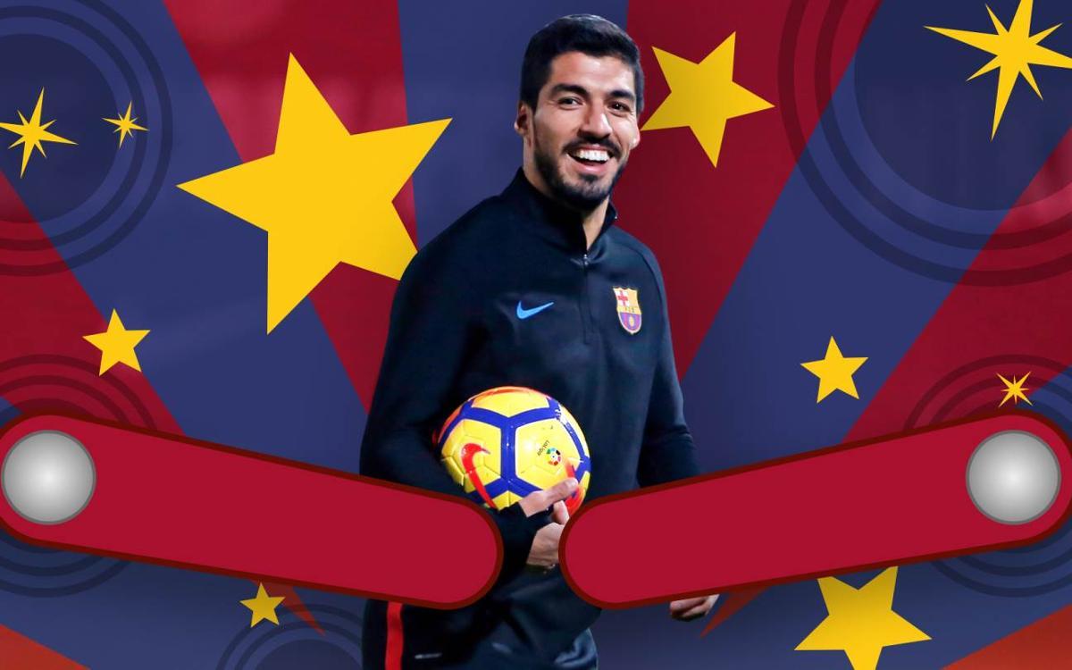 VIDEO: Luis Suárez hits jackpot with pinball goal