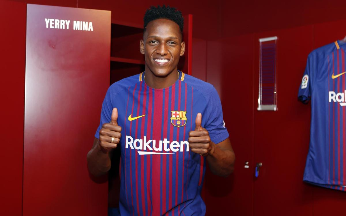 A football test for Yerry Mina