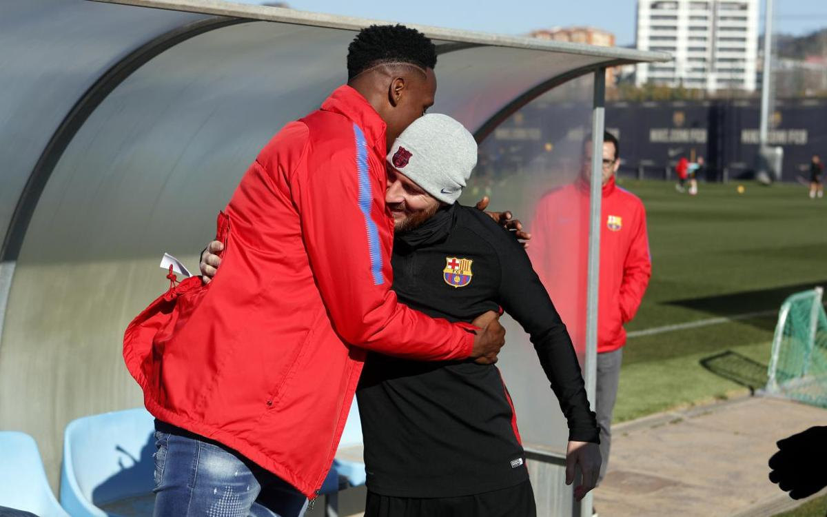 The squad welcomes Yerry Mina