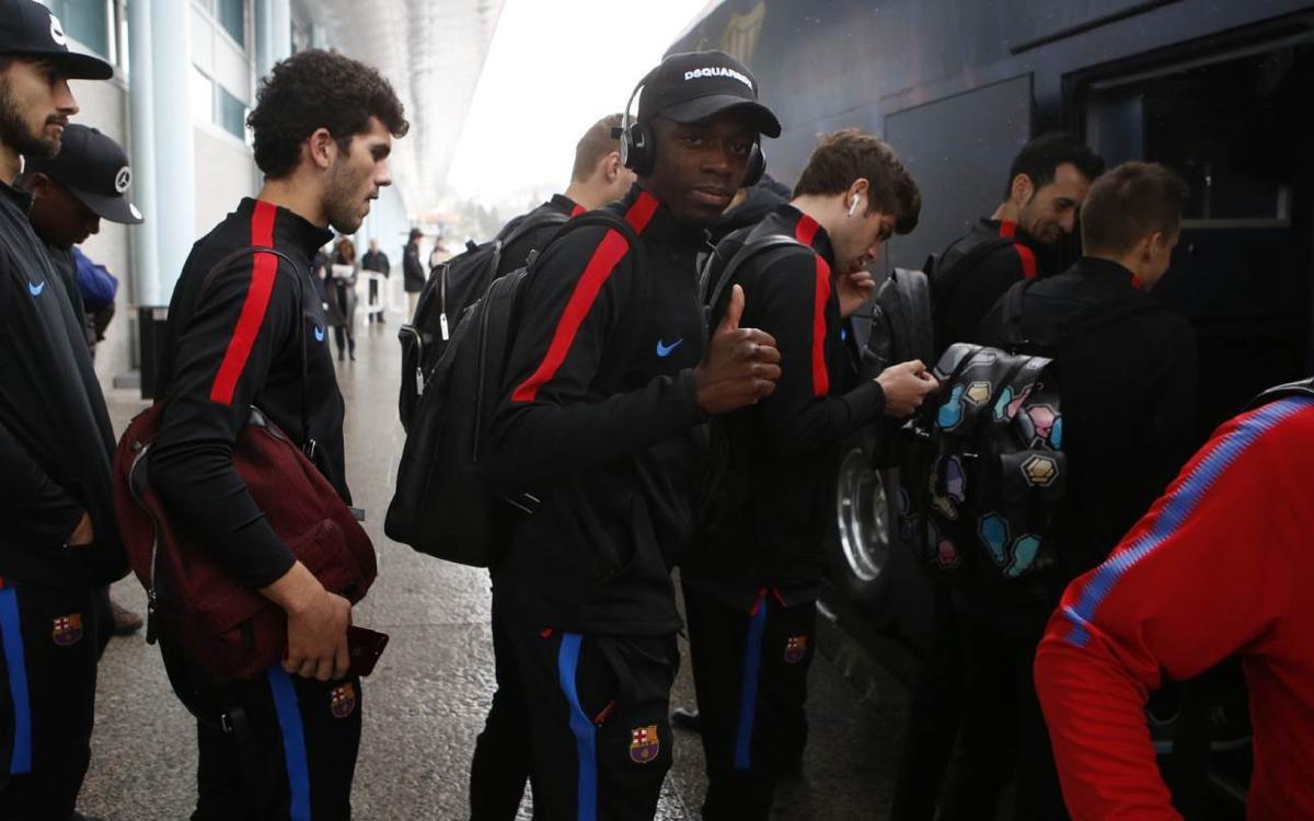Barça squad touch down in Vigo