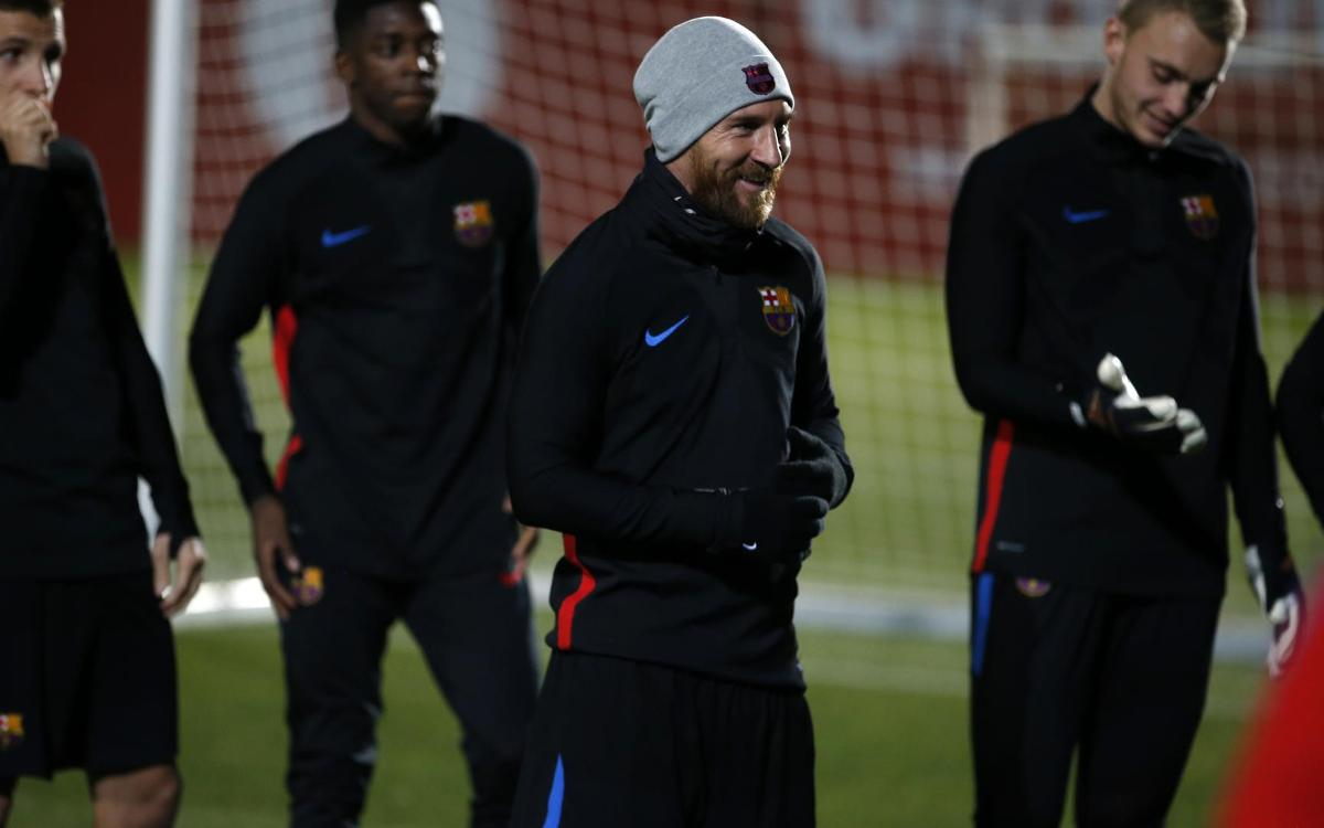 Messi, Suárez and Mascherano return to training
