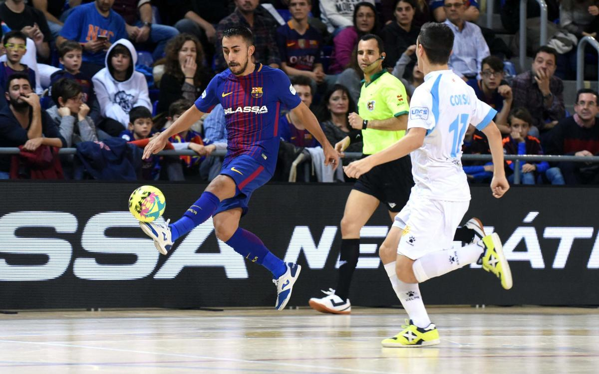 FC Barcelona - Catgas Energia Santa Coloma: No luck in the derby (2-2)
